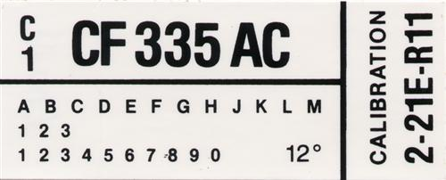 Mustang Engine Code Decal Without A/C (1982) GT