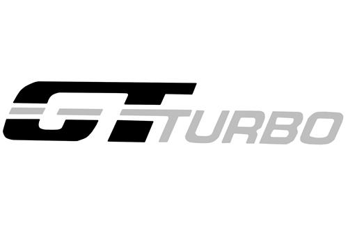 Mustang GT Turbo Fender Decal Black/Silver (83-84)