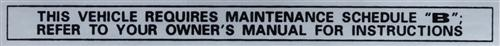 1979 MUSTANG GLOVE BOX MAINTENANCE DECAL