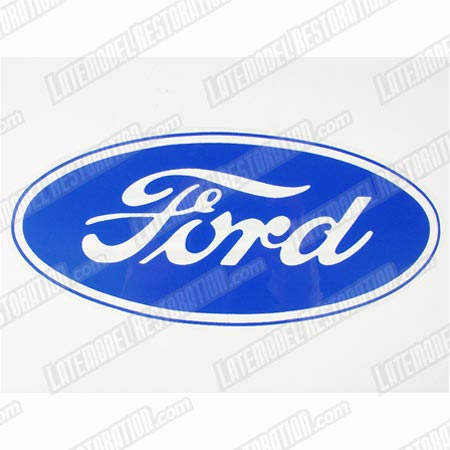 Ford Oval Decal w/ Clear Background