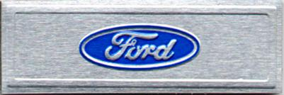 79-93 MUSTANG FORD OVAL SILL PLATE DECAL
