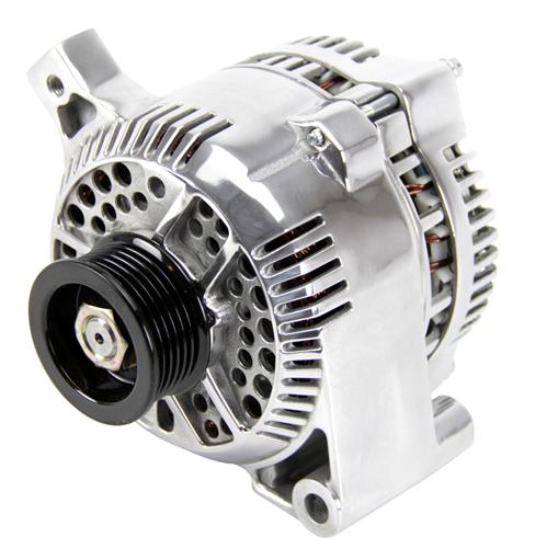 Mustang 95 Amp Alternator Polished (87-93) GT 5.0 - Picture of Mustang 95 Amp Alternator Polished (87-93) GT 5.0
