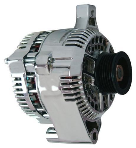Mustang 130 Amp Alternator  Chrome (87-93) GT 5.0