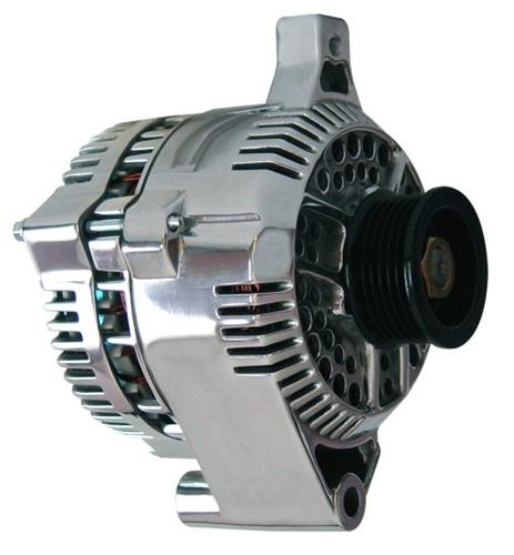 Mustang 130 Amp Alternator  Polished (87-93) GT 5.0