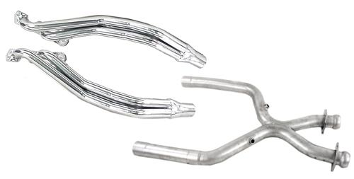 Pacesetter Mustang Long Tube Header & X-Pipe Kit Ceramic Coated (01-04) V6 3.8