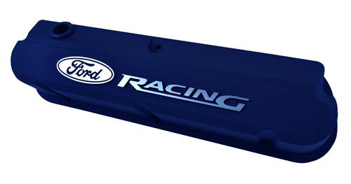 Ford Racing Mustang Slant Edge Valve Covers Blue (79-85) 302-136
