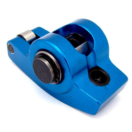 Mustang 1.6 Ratio Pedestal Mount Roller Rocker Arms Blue (79-95) 5.0