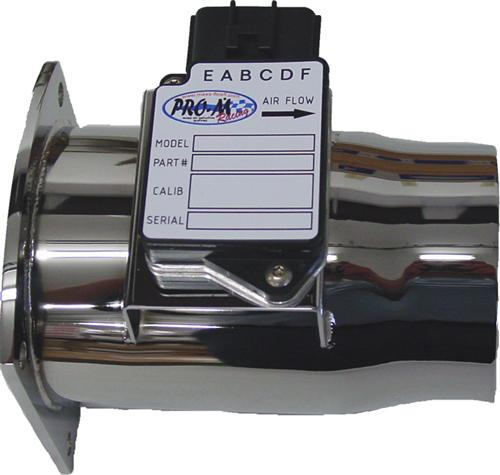 Pro-M Mustang Flanged 75mm Mass Air Meter For 24lb Injectors & Fenderwell Cold Air, Chrome (94-95) 5.0
