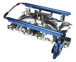 Professional Products Mustang Complete Fuel Rail Kit For Hurricane Intake Aluminum (86-93) 5.8
