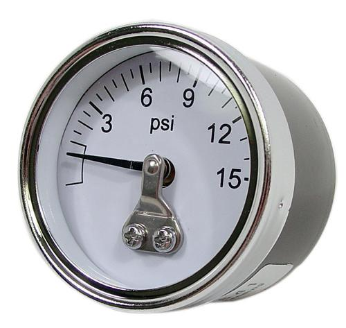 0-15 Psi Carbureted Fuel Pressure Gauge - Picture of 0-15 Psi Carbureted Fuel Pressure Gauge