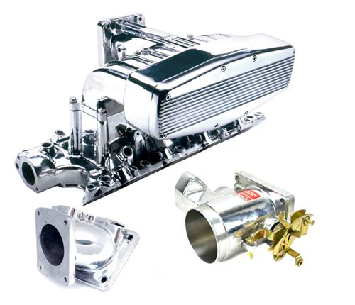 Professional Products Mustang Typhoon Intake, Intake Adapter, Throttle Body Kit Polished (94-95) 5.0