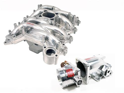 Professional Products Mustang Typhoon Intake Manifold, Plenum, Throttle Body Kit 75mm, Polished (99-04)
