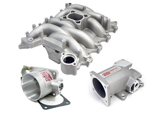 Professional Products Mustang Typhoon Intake Manifold, Plenum, Throttle Body Kit 75mm, Satin (99-04) GT 4.6