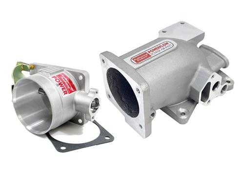 Professional Products Mustang 75mm Intake Plenum & Throttle Body Kit Satin (96-04) 4.6 2V