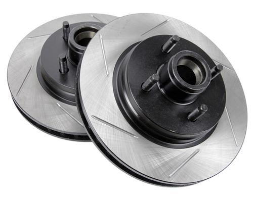 Mustang 4-Lug Slotted Front Brake Rotors (87-93) 5.0 - Picture of Mustang 4-Lug Slotted Front Brake Rotors (87-93) 5.0