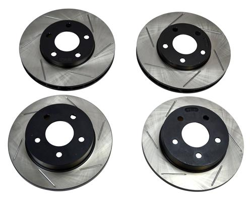 Stop Tech Mustang GT/V6 Slotted Front & Rear Rotor Kit. (94-04)