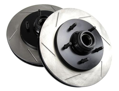 SVT Lightning Slotted Front Brake Rotors, Pair (1999) - Picture of SVT Lightning Slotted Front Brake Rotors, Pair (1999)