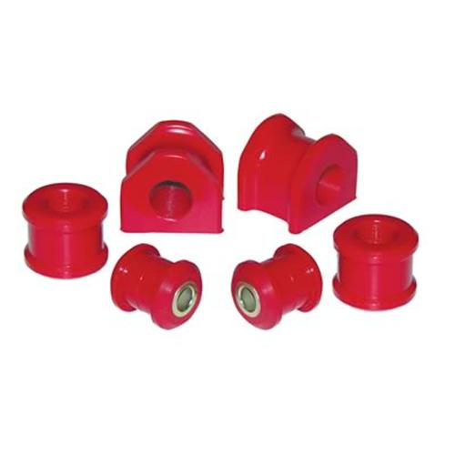 Prothane Mustang Urethane 20mm Rear Sway Bar Bushing Set Red (05-14)
