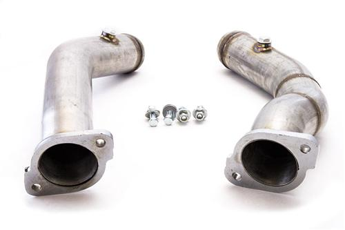 "2011-2014 Mustang GT Cat Delete Pipes,  Madrel Bent 409 Stainless Steel, 2.5"" diameter, Fits GT and Boss applications - 2011-2014 Mustang GT Cat Delete Pipes,  Madrel Bent 409 Stainless Steel, 2.5"" diameter, Fits GT and Boss applications"
