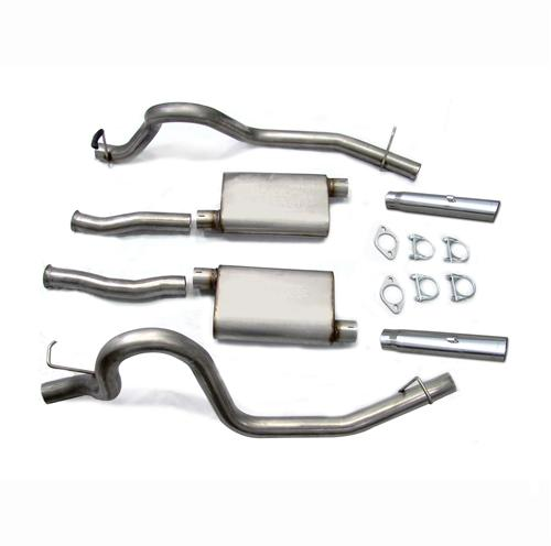 "Pypes Mustang 2.5"" Catback Exhaust w/ 3"" Tips Stainless Steel (86-97) SFM16V"
