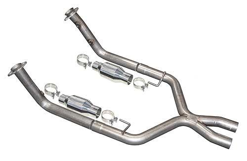 Pypes Mustang Catted X-Pipe for Shorty Headers Stainless Steel (05-10) GT 4.6L XFM26