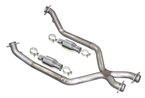 Pypes Mustang Catted X-Pipe For Shorty Headers Stainless Steel (86-95) 5 Speed 5.0