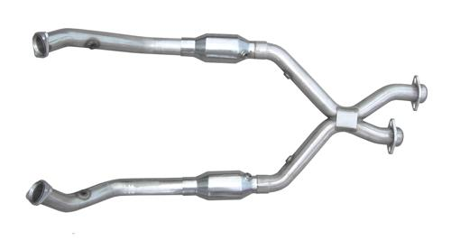 Pypes Mustang Catted X-Pipe Stainless Steel (98-04) V6 3.8