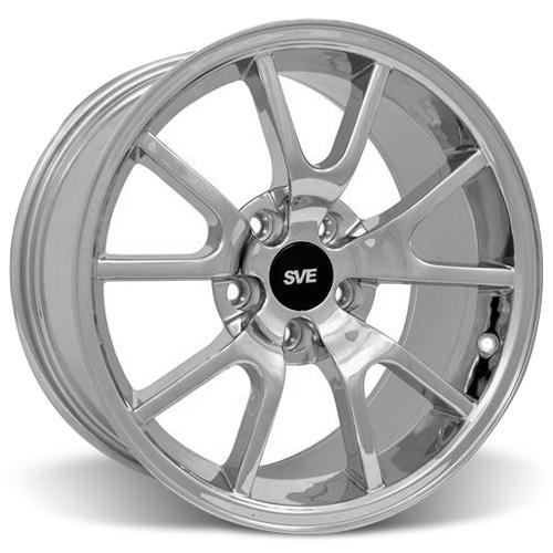 Mustang Fr500 Wheel - 18X9 Chrome (05-15) - Mustang Fr500 Wheel - 18X9 Chrome (05-15)