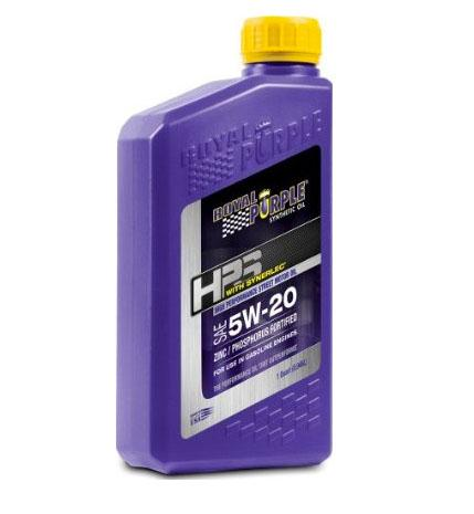 Royal Purple HPS Series 5w20 Engine Oil, Quart Bottle
