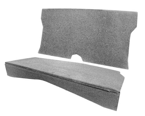 MMR Mustang Rear Seat Delete Gray (79-93) Coupe