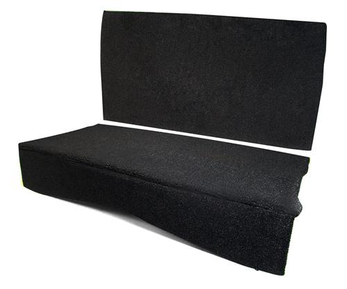 MMR Mustang Rear Seat Delete Black (83-93) Convertible