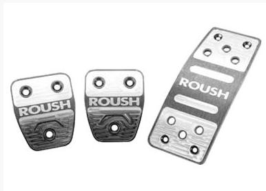2005-10 Mustang Roush Pedal Kit, Manual  http://www.roushperformance.com/parts/Mustang-Billet-Pedal-Kit-Manual-2005-2010.html - Picture of 2005-10 Mustang Roush Pedal Kit