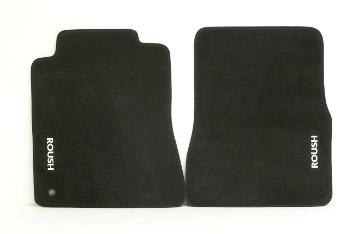 2005-09 Mustang Roush Floor Mats, Dark Charcoal, Fronts only  http://www.roushperformance.com/parts/Mustang-Floor-Mats-Dark-Charcoal-2005-2009.html - Picture of 2005-09 Mustang Roush Floor Mats,