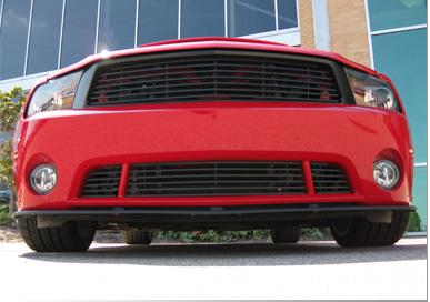 Roush Mustang 6 Bar Lower Billet Grille Black (10-12) 420128
