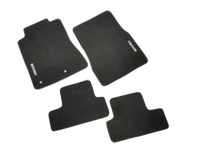 2010 Mustang Roush Floor Mats, Black, Fronts and Rear  http://www.roushperformance.com/parts/Mustang-Floor-Mats-2010.html - Picture of 2010 Mustang Roush Floor Mats