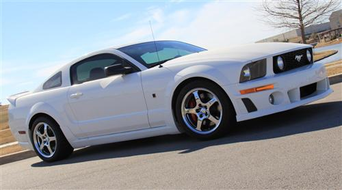 Roush Mustang Wheel & Tire Kit - 18x10 Chrome (07-09) - Picture of Roush Mustang Wheel & Tire Kit - 18x10 Chrome (07-09)