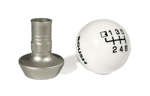 Roush Mustang 6 Speed Shift Knob w/ Collar White (11-14) 421556 - Roush Mustang 6 Speed Shift Knob w/ Collar White (11-14) 421556