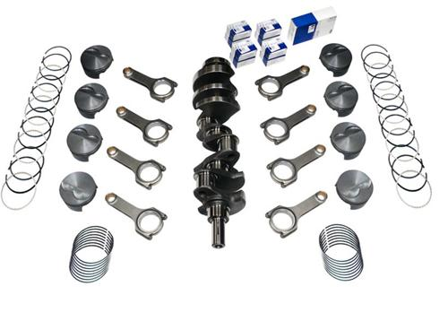 82-95 Mustang 331 Forged Stroker Kit, 4340 Forged H-Beam Rods, 4340 Forged Crank, .030 Forged Flat Top Pistons , Includes Rings & Bearings, Unbalanced - 82-95 Mustang 331 Forged Stroker Kit, 4340 Forged H-Beam Rods, 4340 Forged Crank, .030 Forged Flat Top Pistons , Includes Rings & Bearings, Unbalanced