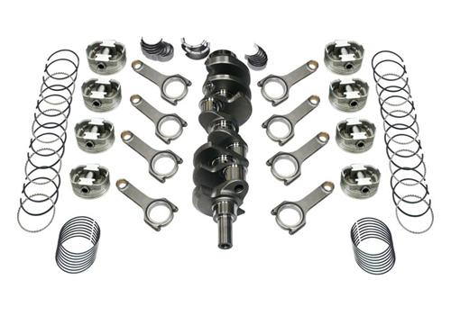 82-95 Mustang 408 Forged Stroker Kit, 4340 Forged H-Beam Rods, 4340 Forged Crank, .030 Forged Flat Top Pistons , Includes Rings & Bearings, Unbalanced