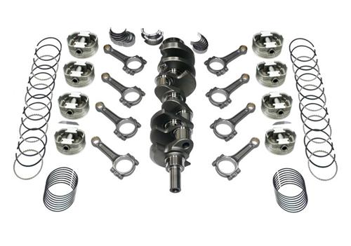 82-95 Mustang 393 Stroker Kit, I-Beam Rods, Cast Crank, .030 Forged Flat Top Pistons , Includes Rings & Bearings, Unbalanced