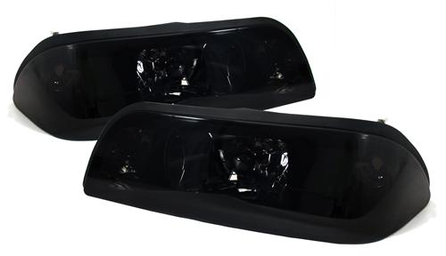 Mustang Smoked One Piece Headlight Kit (87-93)