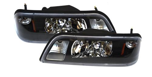 SVE Mustang Black One Piece Headlight Kit (87-93)