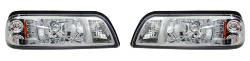 SVE Mustang One Piece Headlight Kit Chrome (87-93)