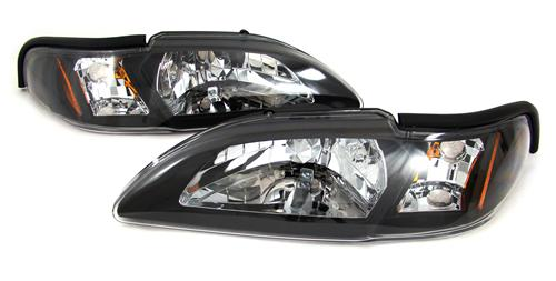 SVE Mustang One Piece Headlight Kit Black (94-98)