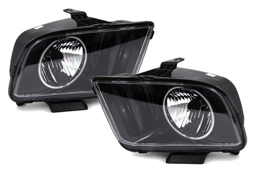 Mustang Halo Headlights Black (05-09)