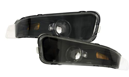 Mustang Black Front Bumper Park Lights (05-09) - photo of Mustang Black Front Bumper Park Lights (05-09)