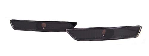 Mustang Front Bumper Park Lights Black  (10-14)