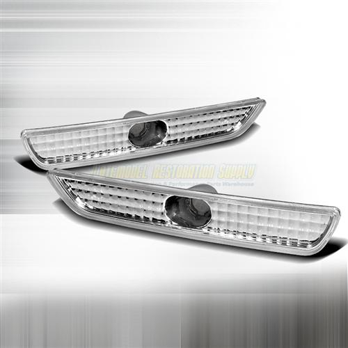 Mustang Front Bumper Park Lights Clear  (11-12)