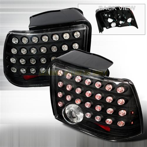 SVE Mustang Black Led Tail Lights (99-04)