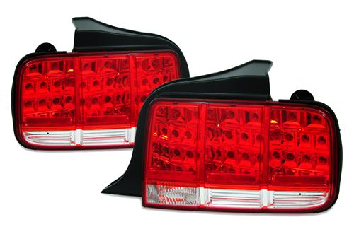 Mustang Red Led Tail Lights (05-09)